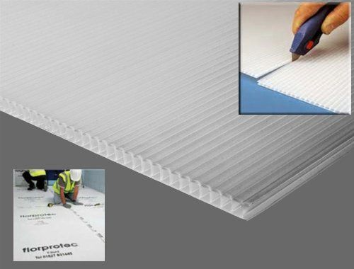 10 X Clear Correx Corrugated Plastic Floor Protector Protection
