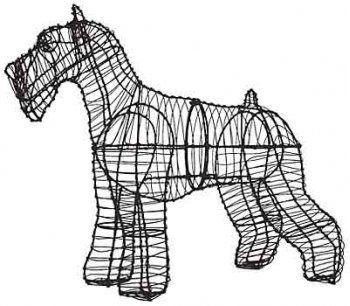 Green Piece Wire Art