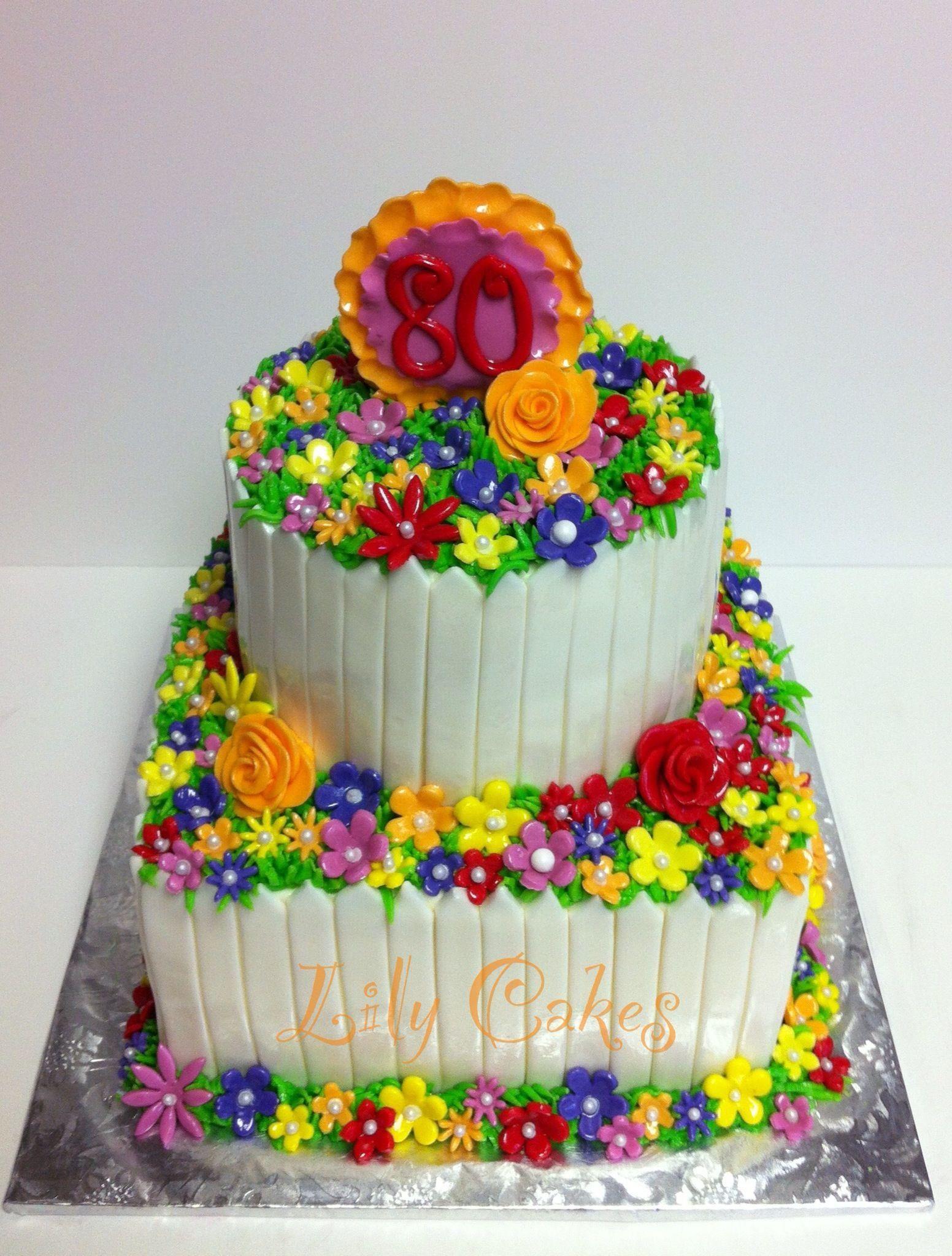 Birthday Cake Photos 6 Round 8 Square With Fondant Flowers And
