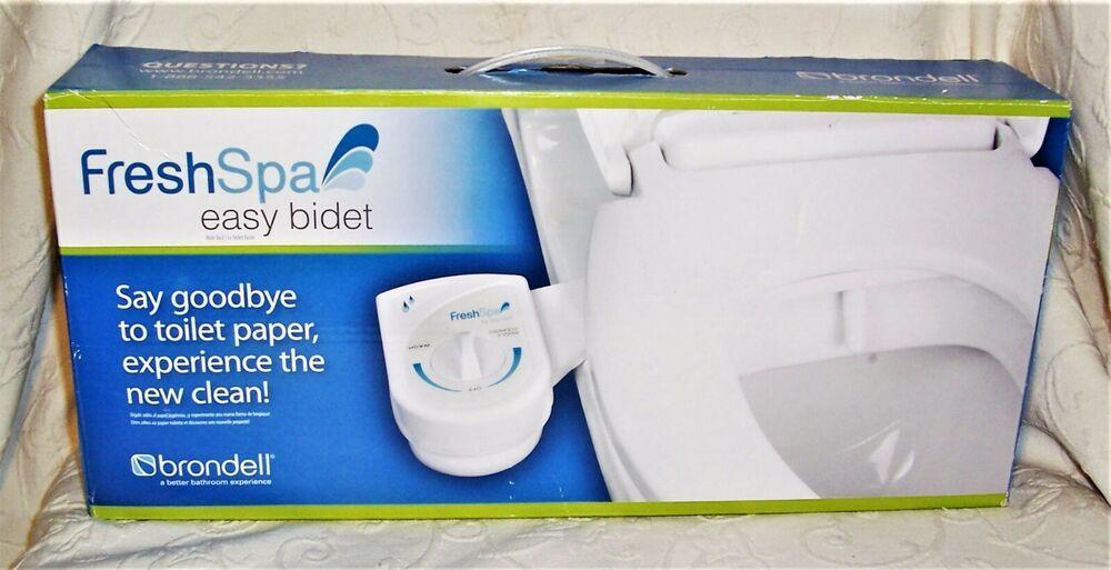 Brondell Freshspa Easy Bidet Adjustable White Toilet Seat