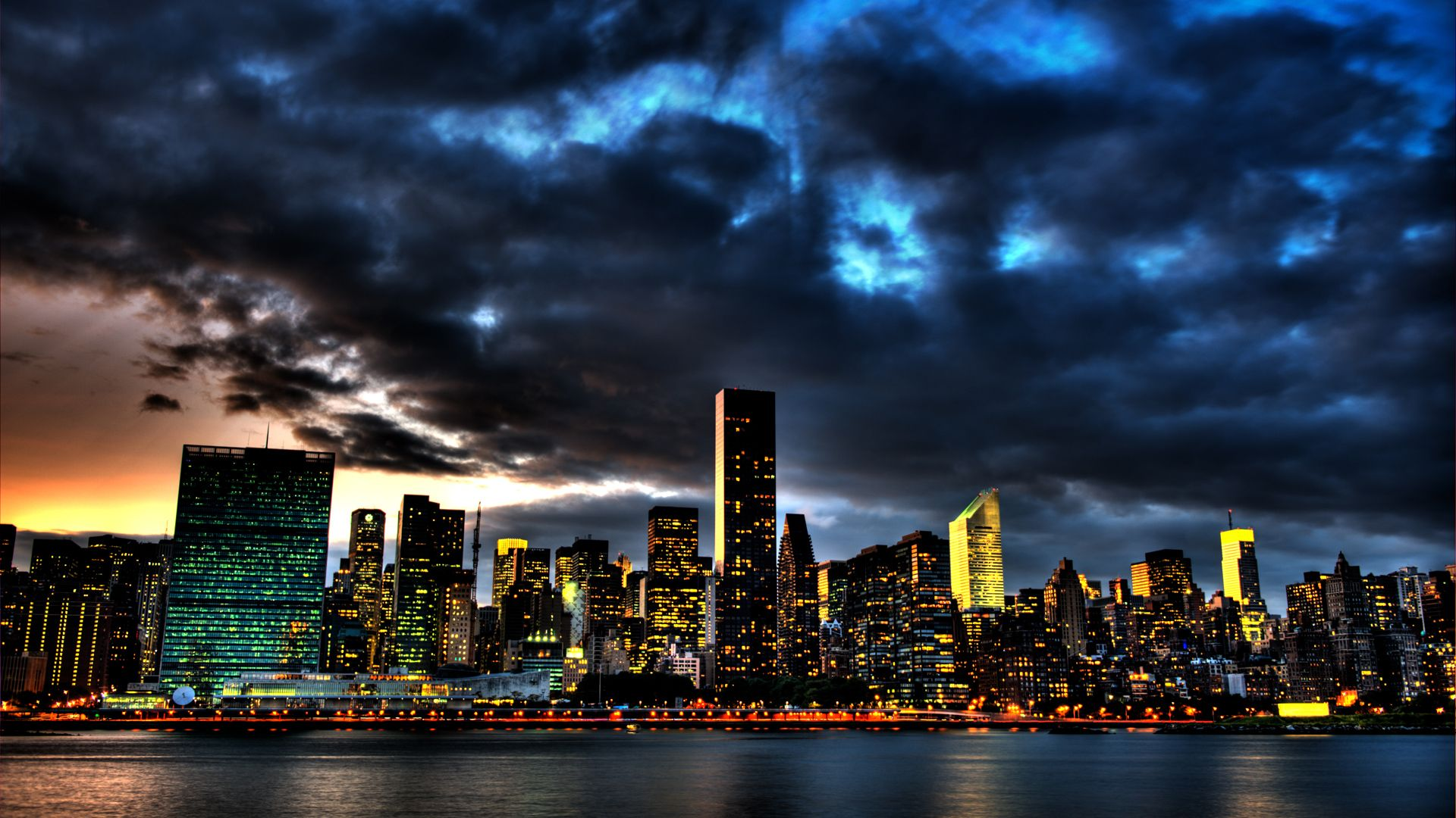 Dark City Hd Wallpaper New York Wallpaper New York Night City Wallpaper