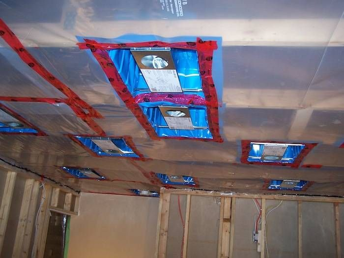 How To Install Vapor Barrier Poly To Walls And Ceiling Basement Ceiling Ideas Cheap Basement Ceiling Painted Ceiling Tiles Basement