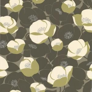 Graham Brown 56 Sq Ft Field Poppies Green Wallpaper Discontinued 50 143 The Home Depot Poppy Wallpaper Green Floral Wallpaper Green Wallpaper