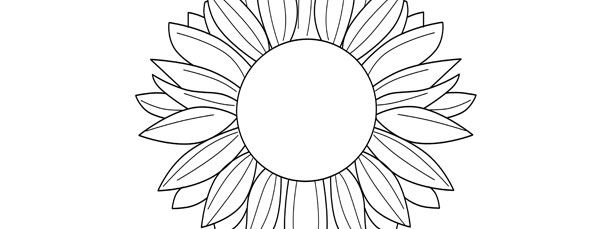 Sunflower Template Large