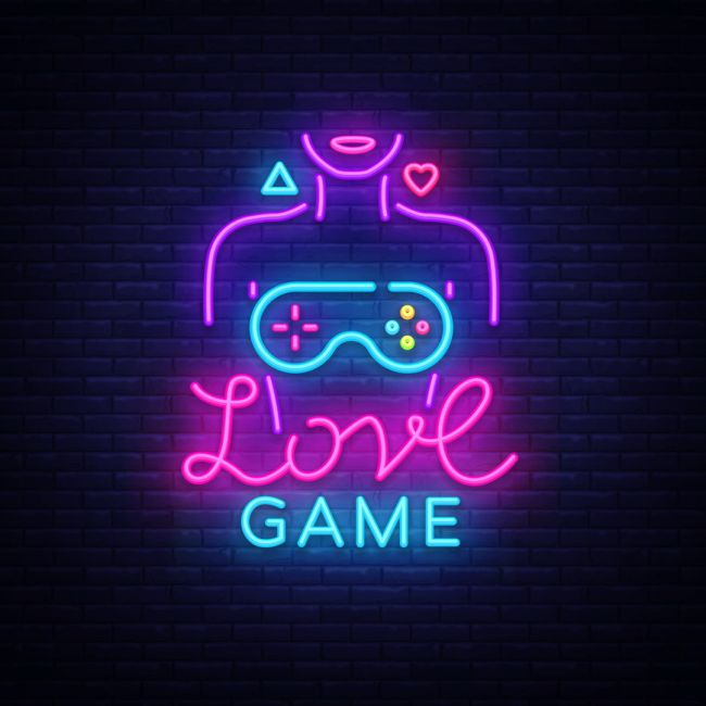 Love Game Led Neon Sign In 2020 Neon Signs Neon Words Led Neon Signs