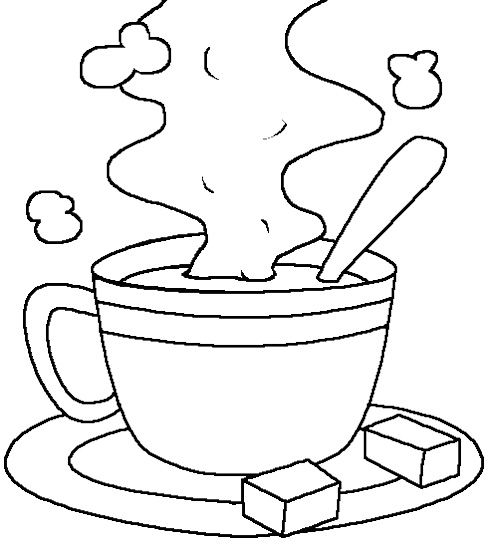 Hot Cocoa Milk Coloring Page Kids Coloring Pages