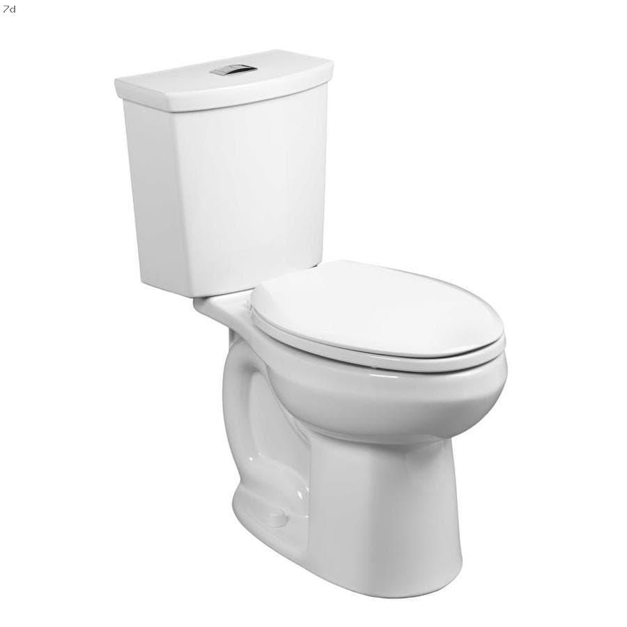 Shop Toilets American Standard H2option White Watersense Dual Flush Elongated Chair Height 2 Piece Vitreous China Toilet 12 In Rough In Size In 2020 Dual Flush Toilet American Standard Water Sense
