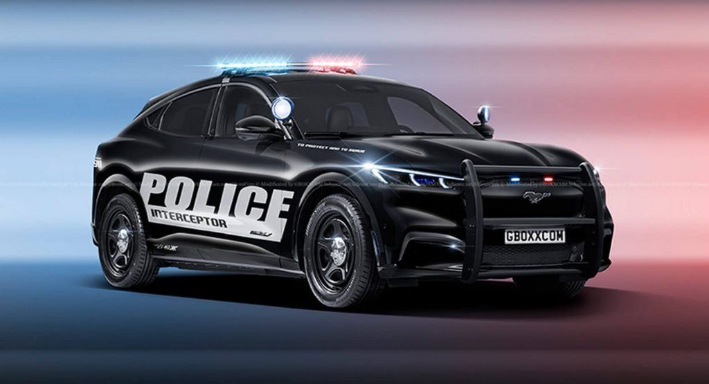 Ford Mustang Mach E Looks Good In Police Uniform Ford Mustang New Ford Mustang Mustang