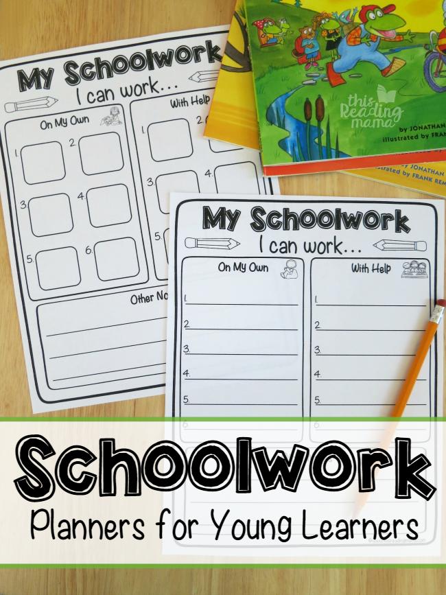 Schoolwork Planner for Kids   Homeschool Organization   Homeschool ...