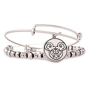 534ba0acb Mickey Mouse Filigree Bangle Set by Alex and Ani - Silver | Disney Store A filigree  Mickey icon design is etched into the charm of the slider bracelet that ...