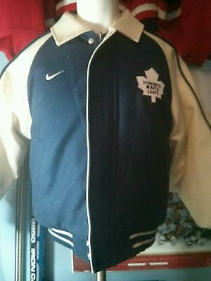 Toronto Maple Leafs Nike Youth Leather Jacket Nhl Game Wear Athletic Jacket Adidas Jacket