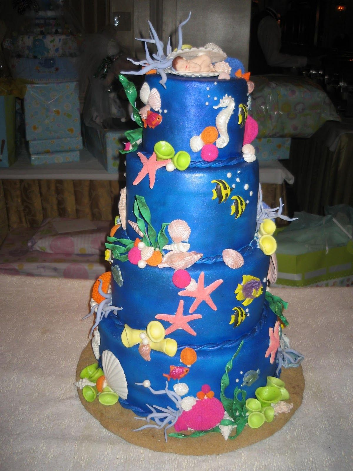 Under The Sea Cake Ideas | Under The Sea Baby Shower Cakes Decorations Ideas  And Under