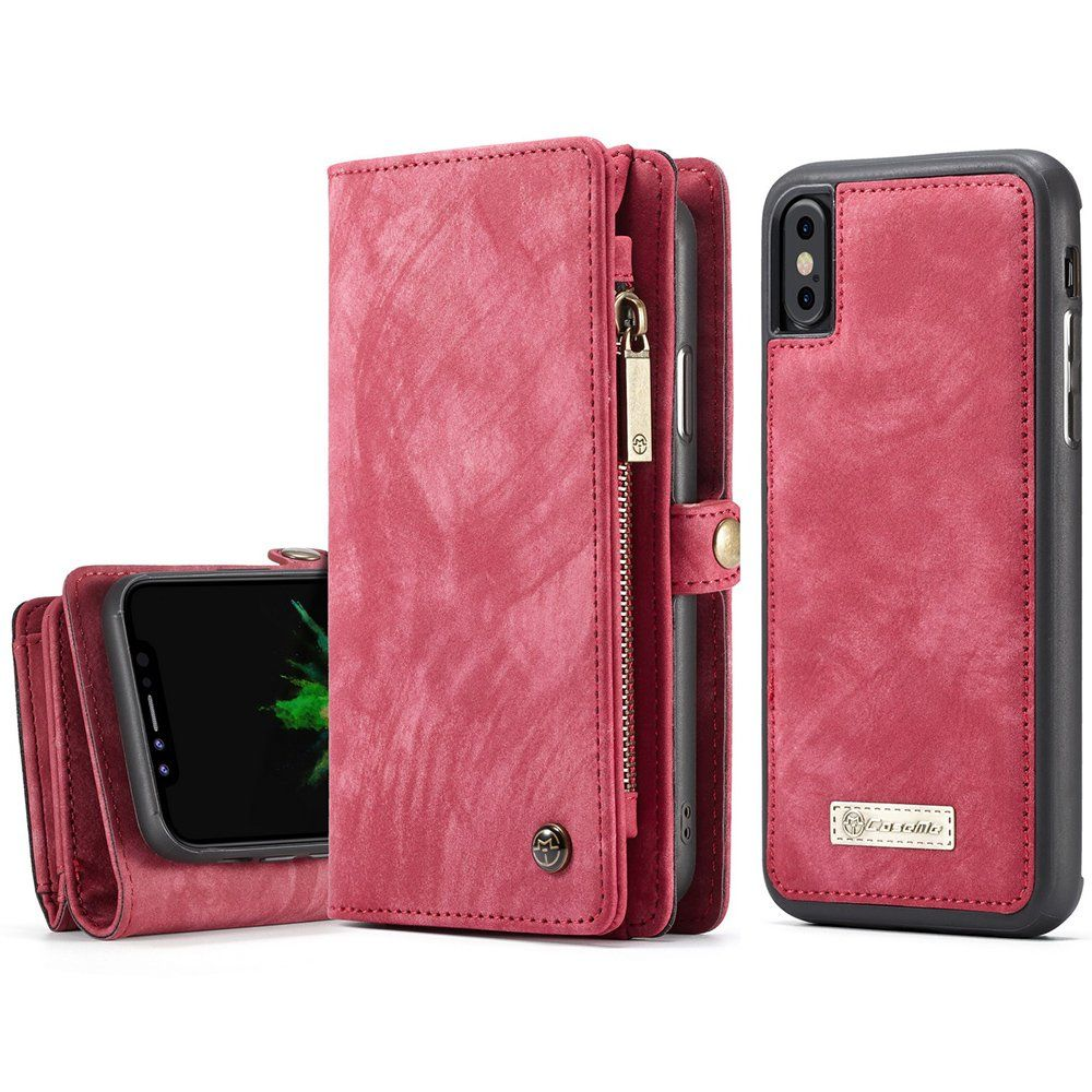 Apple phone x leather wallet phone case