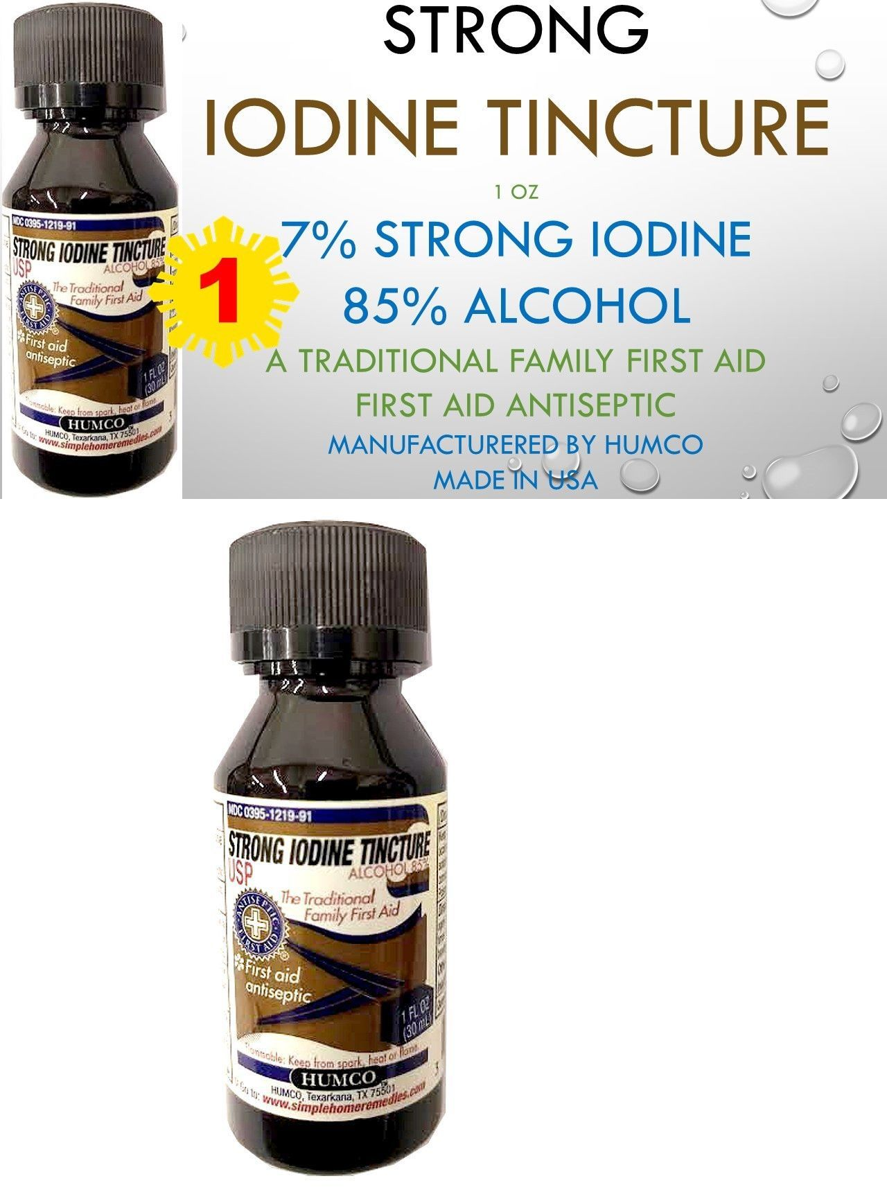 Other First Aid 11779: Humco 7% Strong Iodine Tincture 1Oz