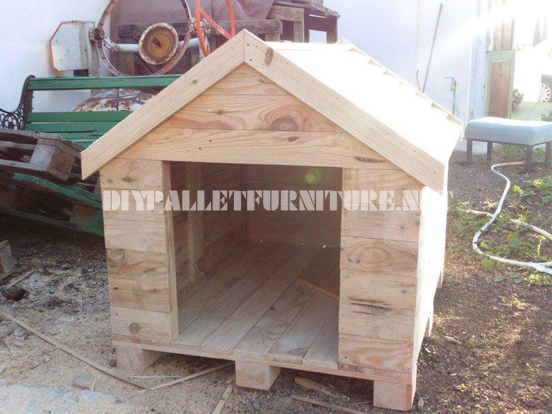 niche construite avec des palettes chien pinterest niche construire et palette. Black Bedroom Furniture Sets. Home Design Ideas