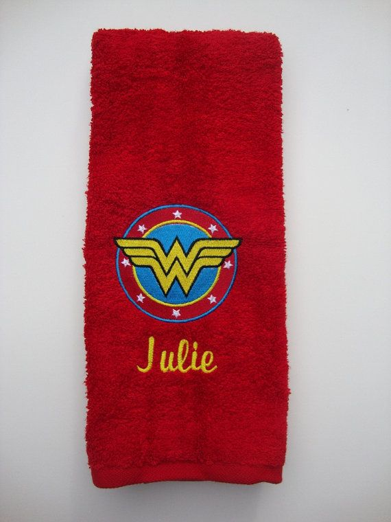 Embroidered Personalized DC Comics Wonder Woman By Julieshobbyhut, $16.98