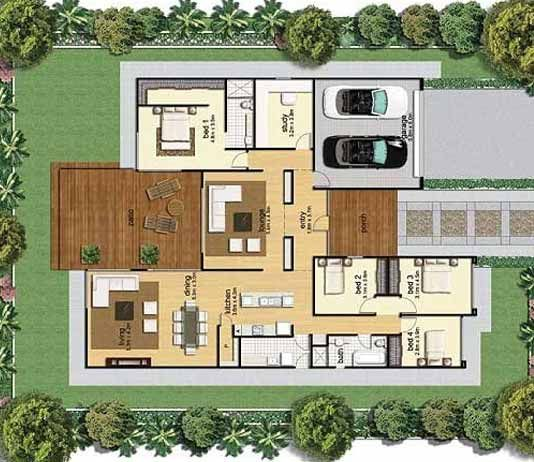 30 by 40 Feet 2bhk 3BHK House Map with Photos | House ...