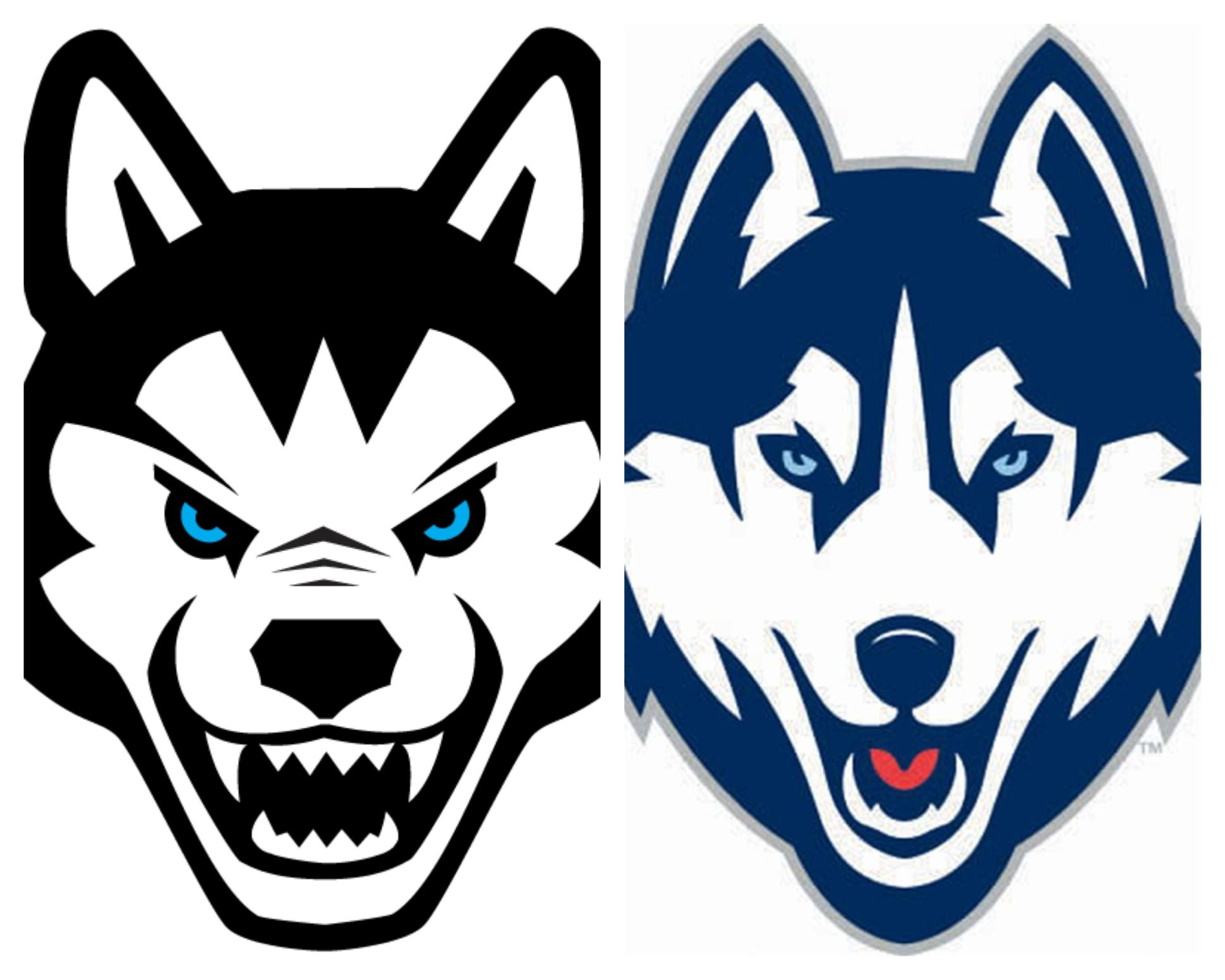 The Northeastern Huskies Logo Is On The Left And How Closely Does
