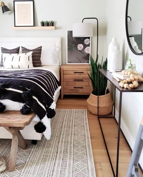 This Sophisticated Boho Bedroom Is a Texture Lover's Dream | Hunker