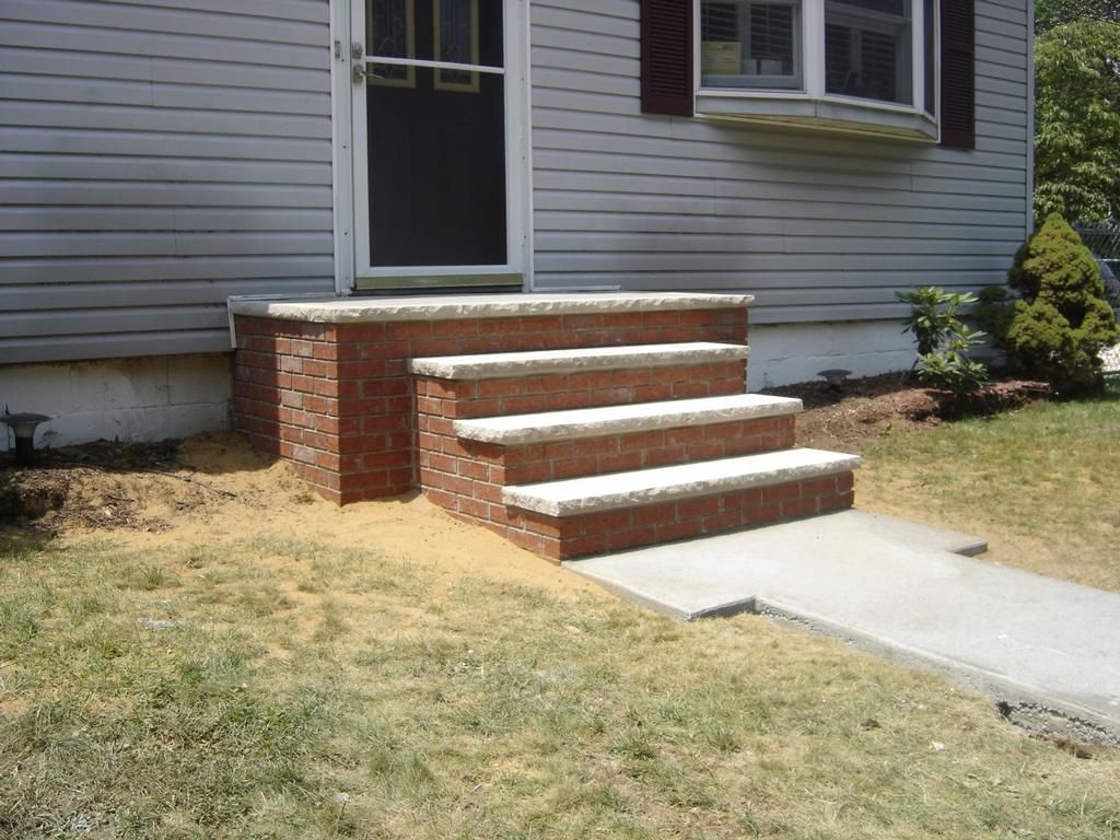 steps for front of house designs ideas   Picture brick ...
