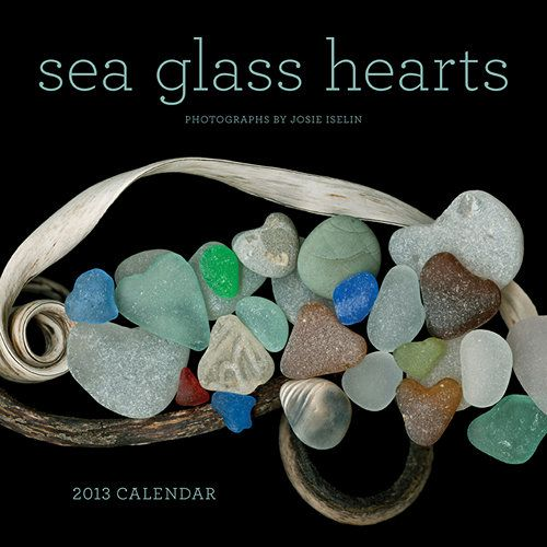 Sea Glass Hearts 2013 Wall Calendar