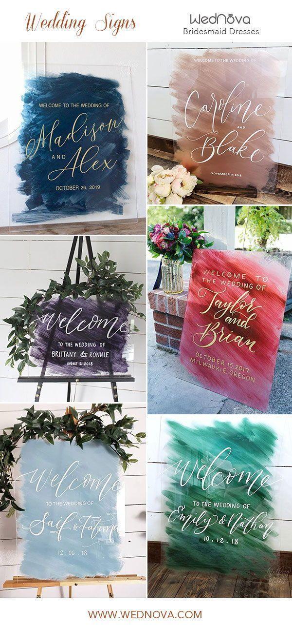 bemalte Acryl Hochzeit Zeichen Leinwand Willkommensschild Vinyl auf Acryl Zeichen #Hochzeit #weddingwelcomesign