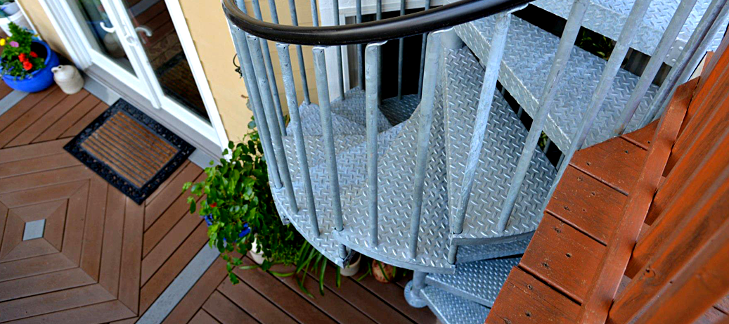 Best Galvanized Spiral Stairs Metal Stairs Stairs Spiral 640 x 480
