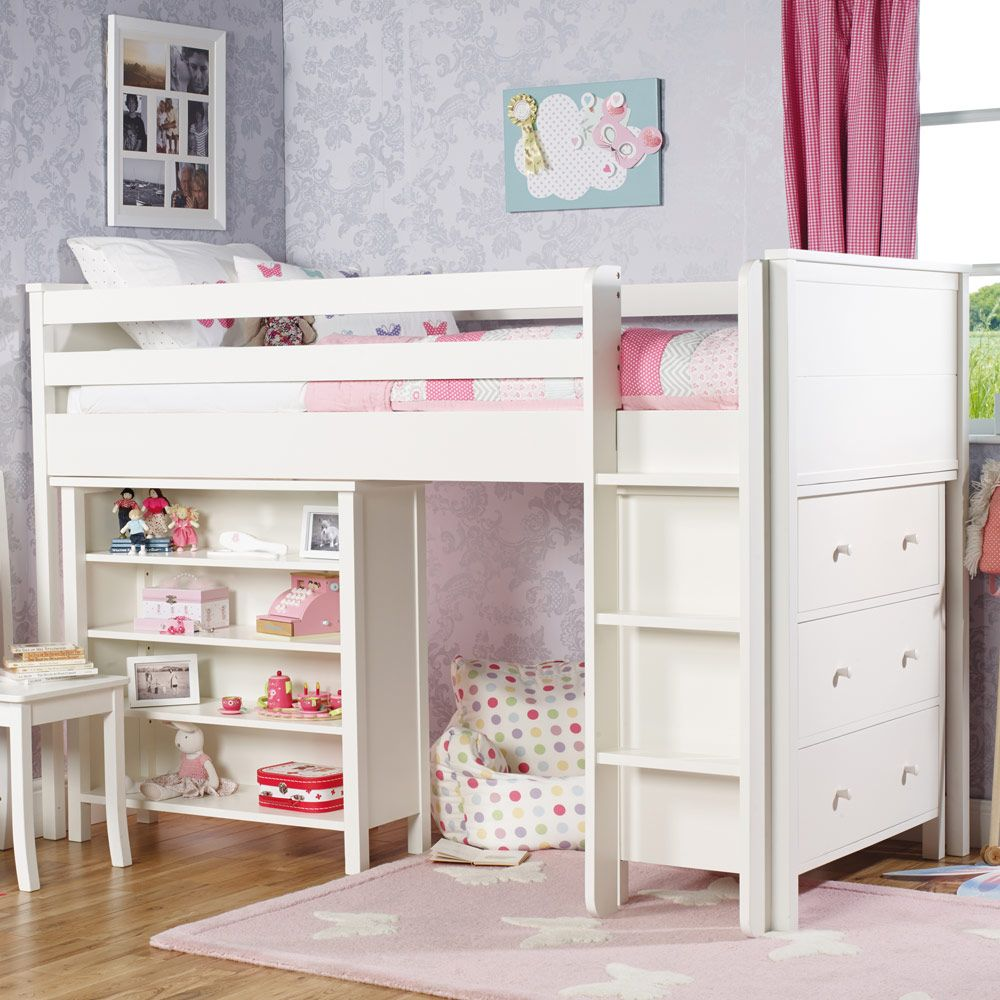 Adorable Full Kids Bedroom Set For Girl Playful Room Huz: QUICK SHOP: Islander Mid Sleeper Bed Frame With The