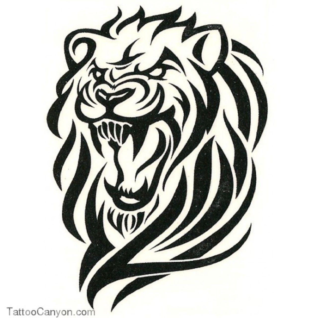 Angry Lion Tribal Tattoo Design Tattoobite Com Lion Tattoo Design Lion Tattoo Tribal Lion Tattoo