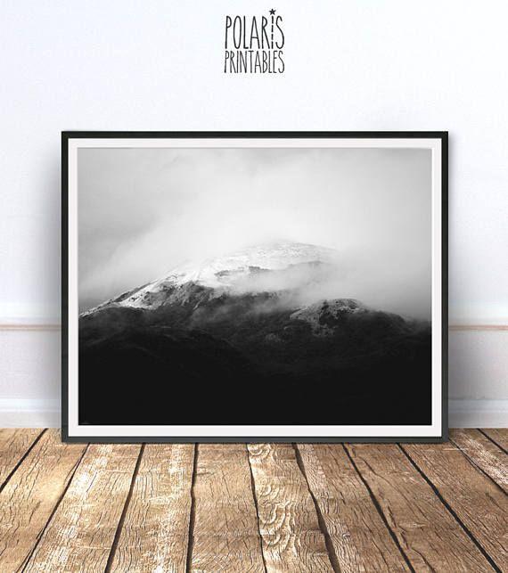 Black And White Mountain Photography Modern Minimalist Minimal Art Minimal Wall Decor Scandi Print Natu Art Photography Nature Wall Art Minimal Wall Decor