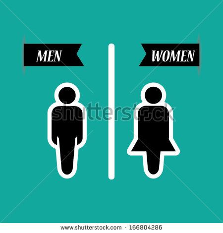 a man and a lady toilet sign on green background - vector. by Honey_Toast,