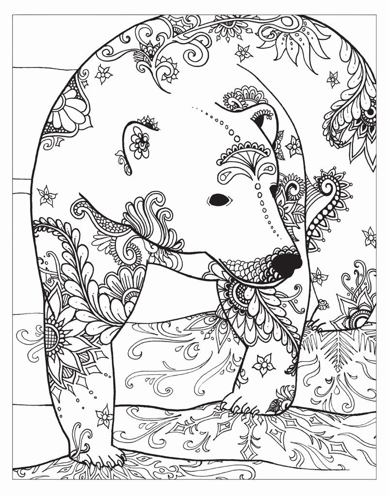 Winter Coloring Pages for Adults Elegant Winter Coloring ...