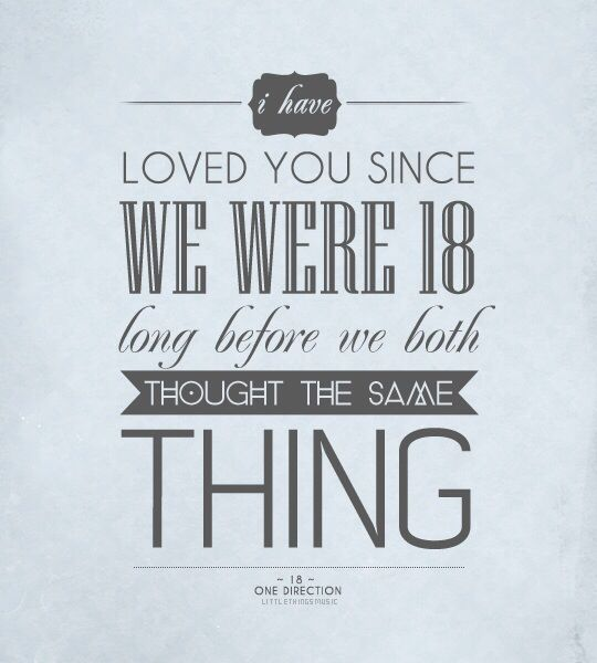 One Direction Song Lyrics Quotes: 18 - One Direction