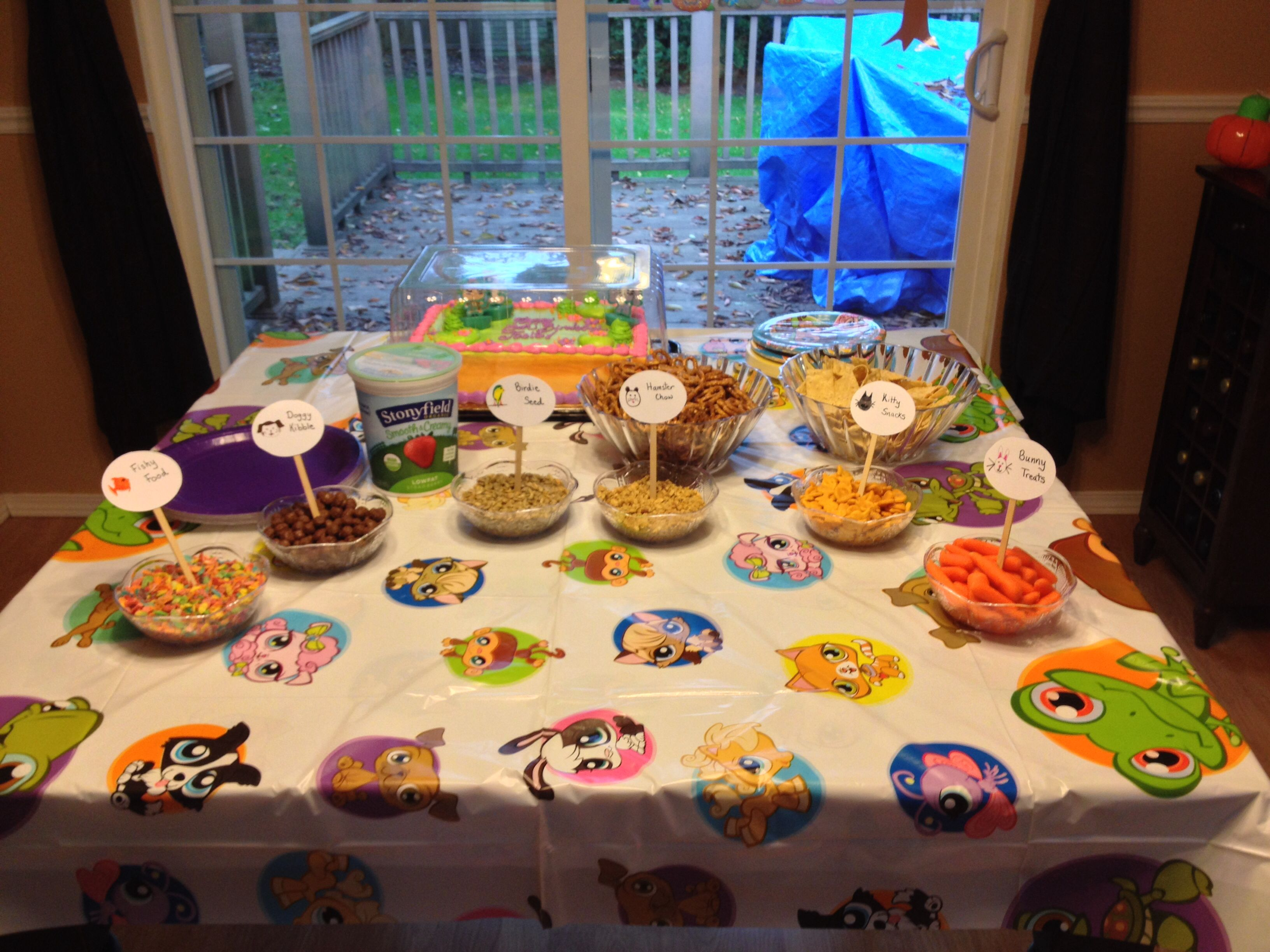 Littlest Pet Shop birthday party. We had a yogurt bar with themed ...