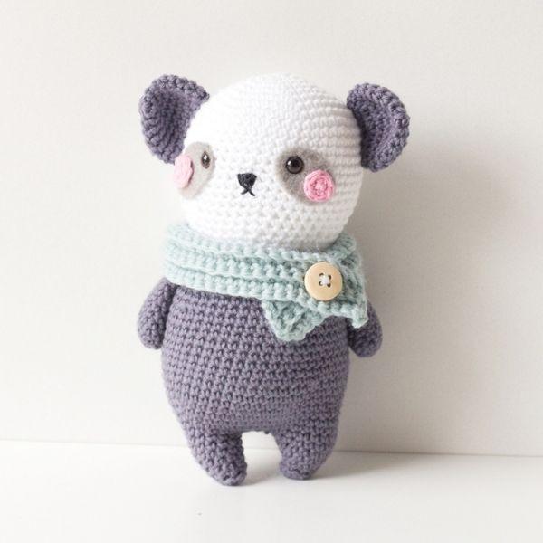 Peter Panda Amigurumi Pattern   Crochet   Pinterest   Como tejer ...