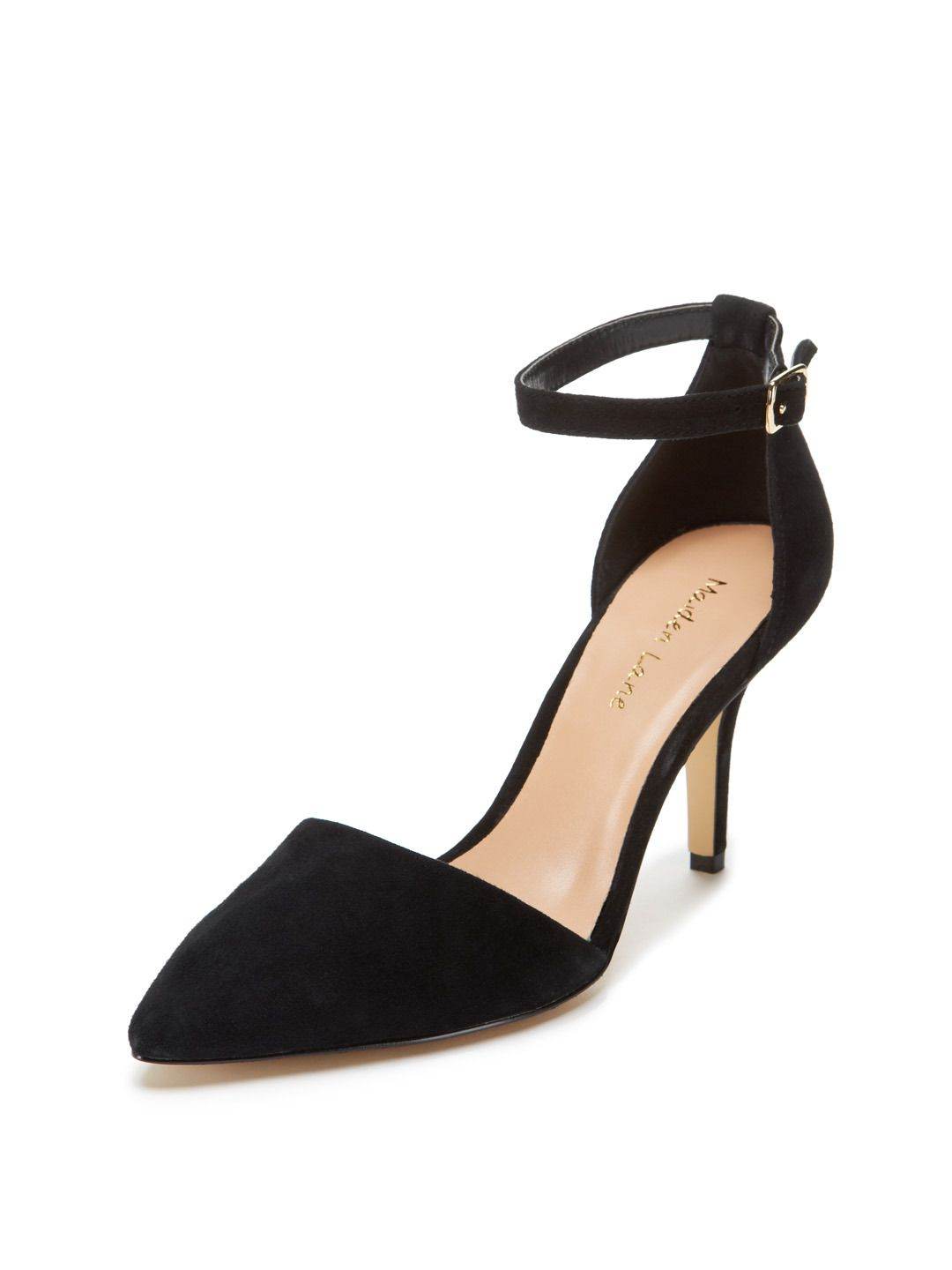 Carrie d'Orsay Mid Heel Pump by Maiden Lane at these Gilt these at seem   72c981
