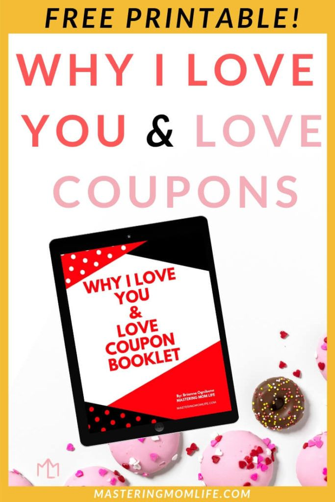 "Free Valentine's Day Love Coupon Booklet is part of Valentines printables free, Free valentine, Love coupons, Homemade free, Valentine day love, Valentines printables - Want to make your Valentine's Day as new parents super special   Give your spouse something heartfelt and homemade that will make their heart flutter! Download the FREE ""Why I Love You"" & Love Coupon Printable!"