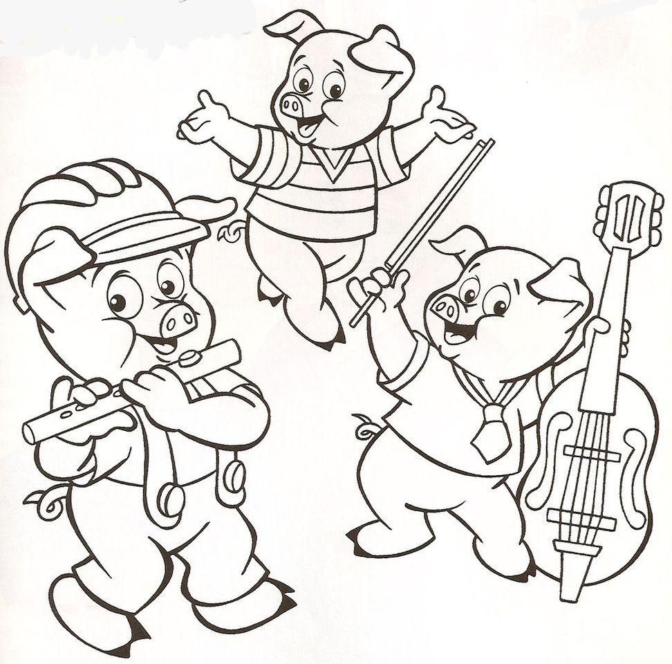 Desenhos Para Colorir Os Três Porquinhos Para Colorir