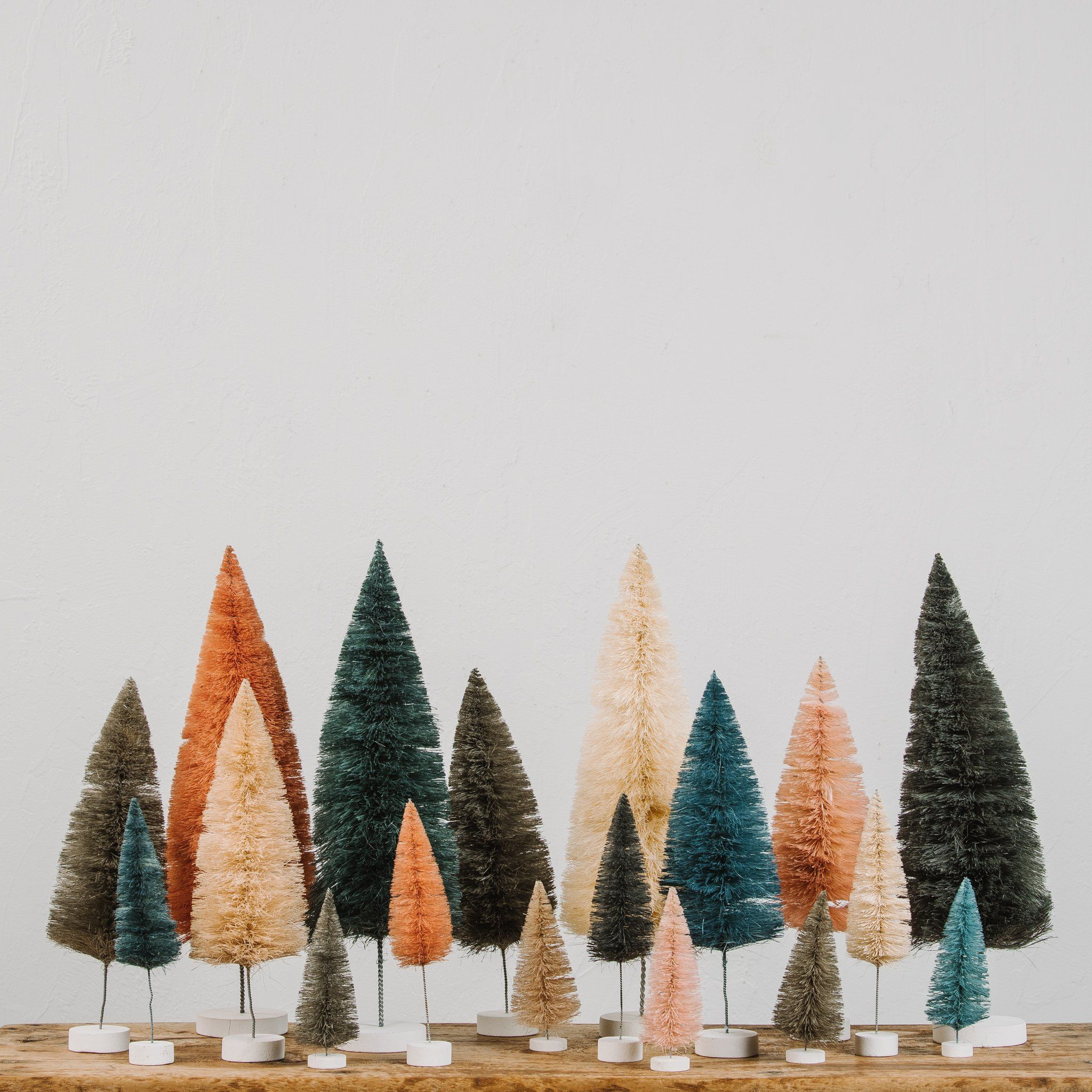 Whimsical Bottle Brush Tree Magnolia Market Chip Joanna Gaines Magnolia Christmas Decor Bottle Brush Christmas Trees Retro Christmas Decorations