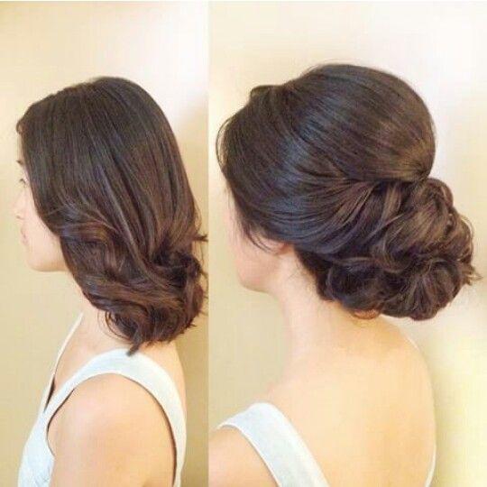 Shoulder Length Up Do Short Wedding Hair Short Hair Styles Hair Styles