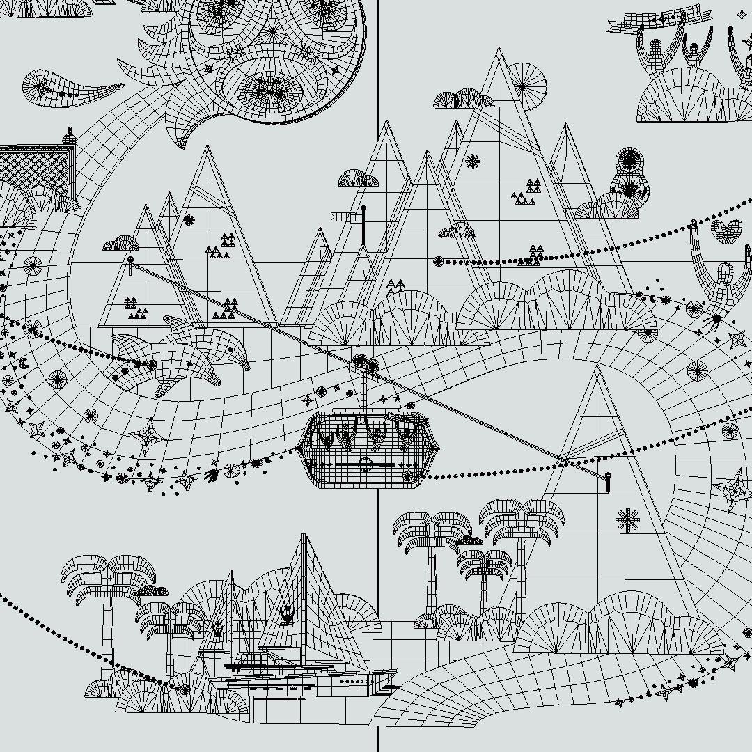 Russian style Sochi city Infographic design process