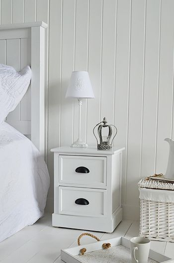 southport white furniture 2 drawer small bedside table for bedroom furniture