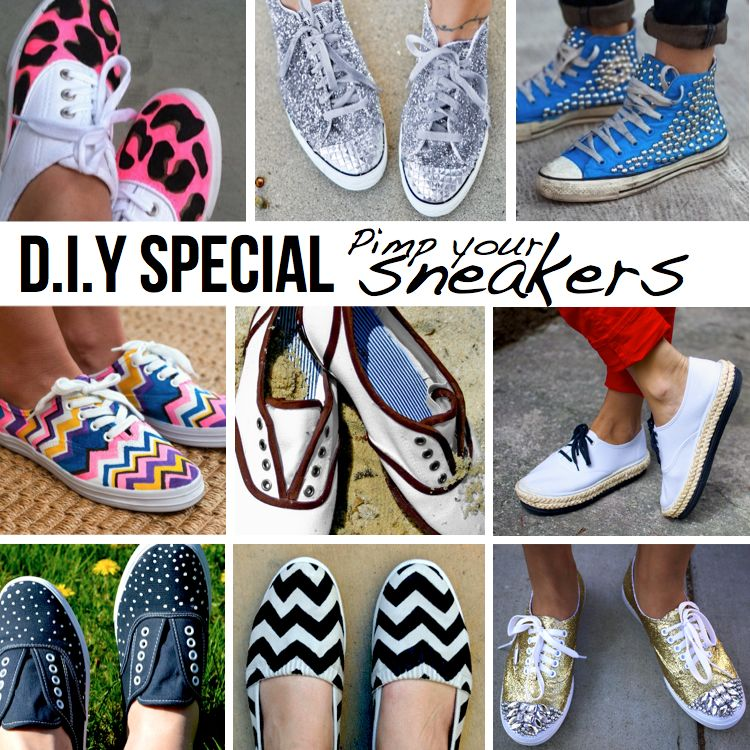 pimp your sneakers turn cheap tennies into cute shoes to go with your capris for summer. Black Bedroom Furniture Sets. Home Design Ideas