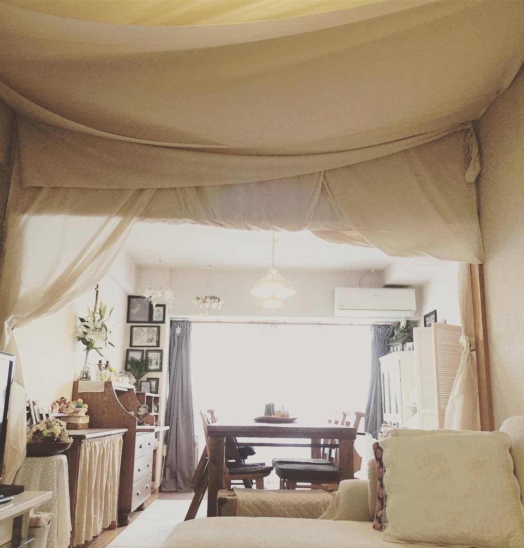 おしゃれな天井インテリア 雰囲気作りなら布天井におまかせ