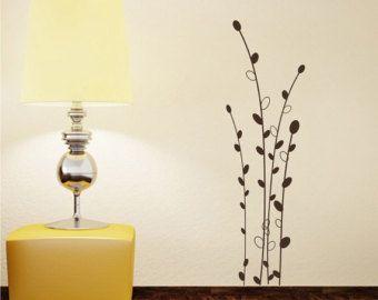 Ciliegio Blossom Albero Ramo Muro Decal con Uccelli Vinile ...
