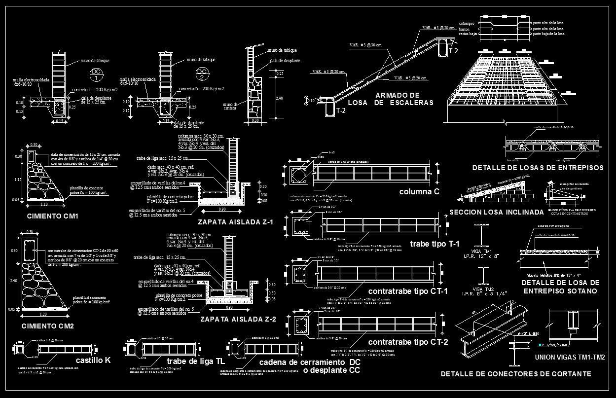 hight resolution of concrete details cad design free cad blocks drawings details building foundation