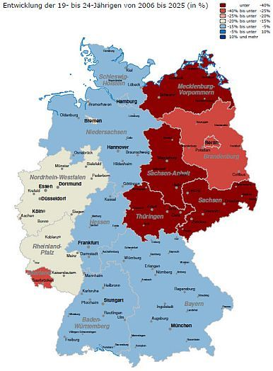 Map of Germany, East and West | German Genealogy ...