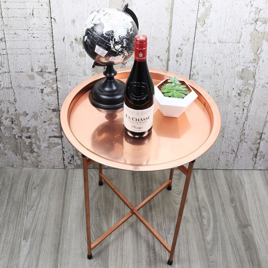Szczegoly O Round Copper Coffee Table Contemporary Furniture Modern Decor Home Free P P With Images Stoliki Kawowe