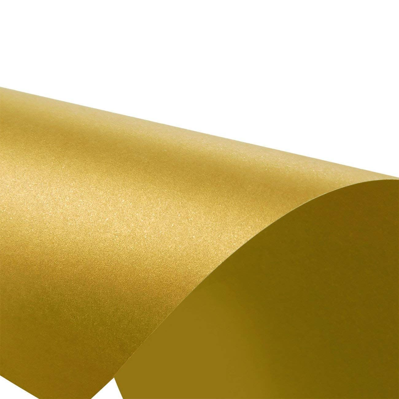 96-Pack Gold Metallic Cardstock Paper Double Sided Shimmer Paper Laser...