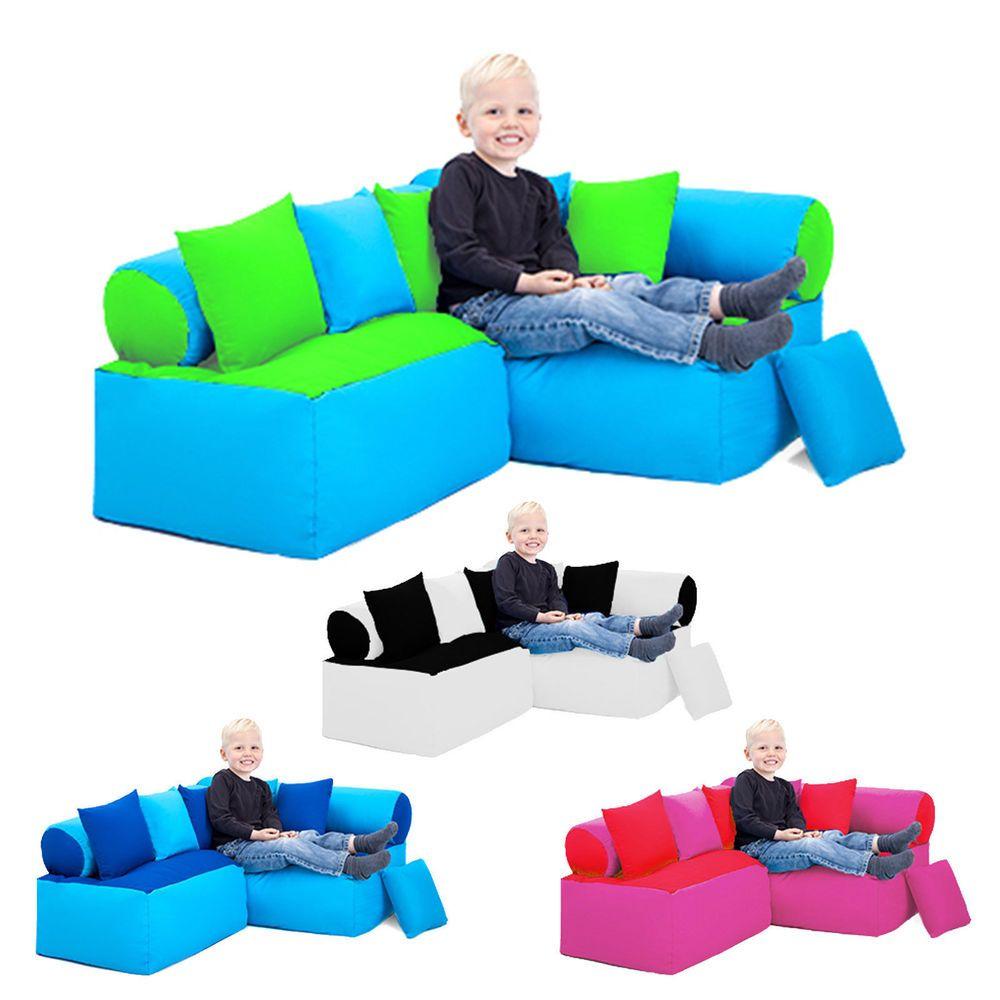 Corner Sofa Child Furniture Toddler Seat Bedroom Soft Play Nursery Gift Bean Bag
